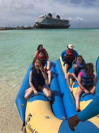 Castaway Cay: Fun on the Banana Boat!