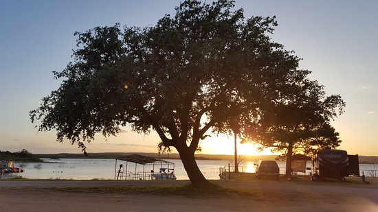 Tow, TX: View of the beach area and waterfront RV sites