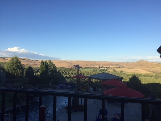 Touchet, WA: View from outdoor dining area