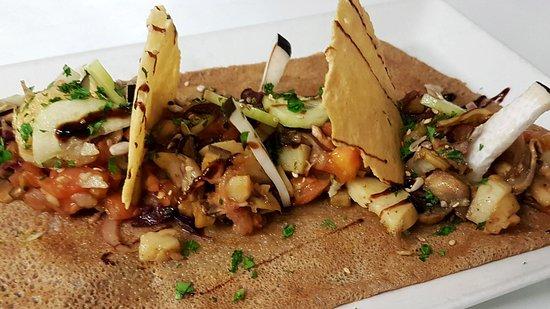Pastel et Sarrasin: Galette légumes de saison