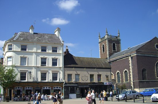 The Cornmarket in Worcester