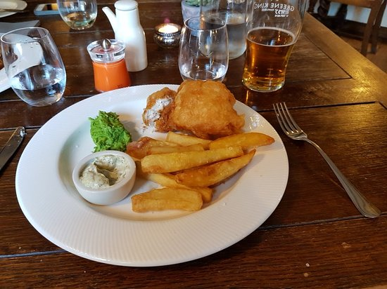 Burwell, UK: Great meal at the Anchor
