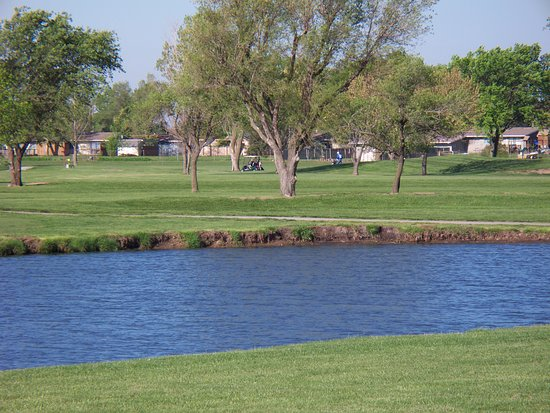 Topeka, KS: One of several ponds on Forbes Golf Course