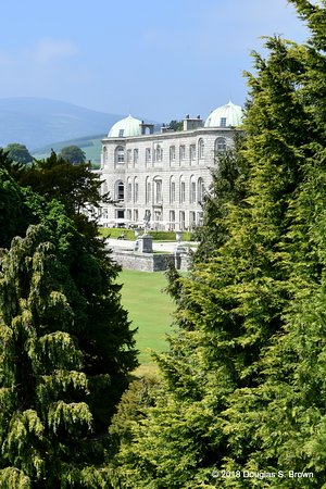 Powerscourt Gardens and House: Great views of the house throughout the day.