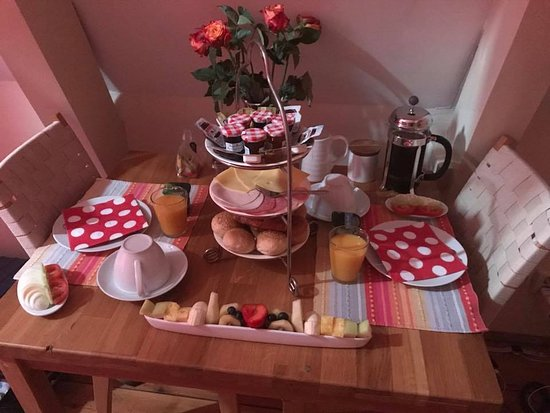 CityCenter Bed and Breakfast Amsterdam: more than enough breakfast to fuel your adventures for the day!
