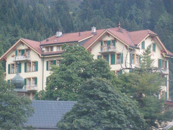 Hotel Falken Wengen: A View of the Hotel Falken from the Railway