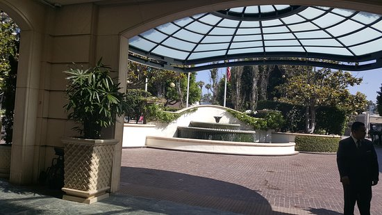 View of the valet from the lobby