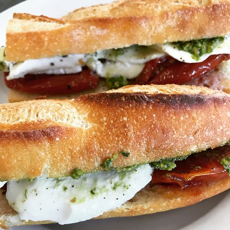 Forktown Food Tours: Caprese Sandwiches from Little T Bakery on the Division Street Tour