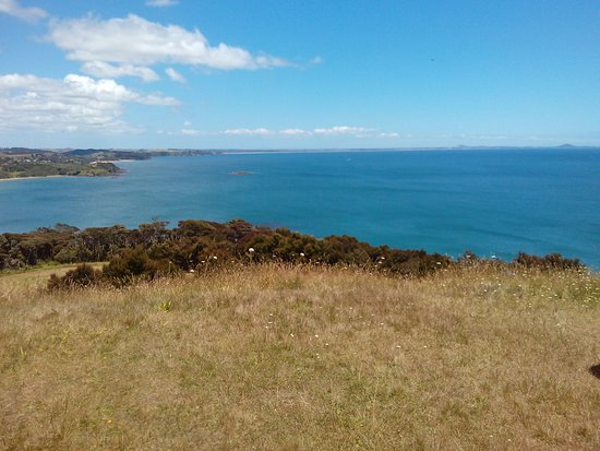 Coopers Beach, New Zealand: 2 View from the top of Rangikapiti Pa, Mangonui, Far North of new Zealand