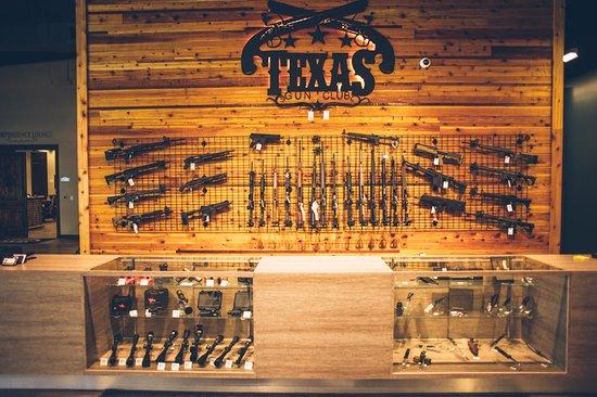Stafford, TX: 3,000 Square Feet of firearms retail.