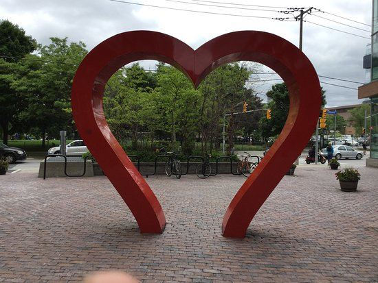 Distillery Historic District: Heart in distillery district