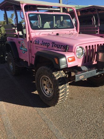 Pink Jeep Tours Sedona: One of their Jeeps