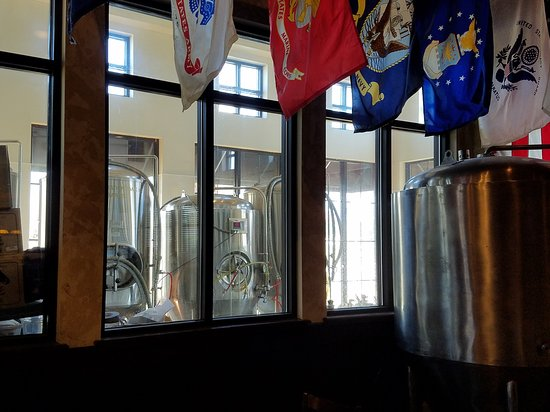Half Moon Restaurant & Brewery: Some of the Brewing Tanks