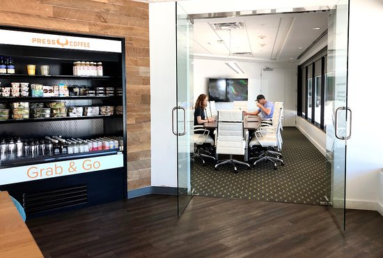 Press Coffee Roasters - Biltmore: Press Biltmore has grab and go offerings and a conference room.