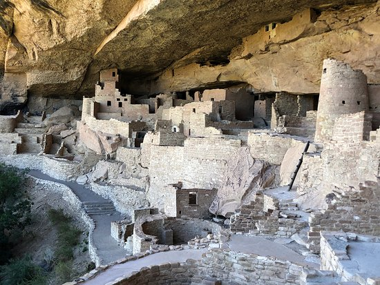 Mesa Verde National Park, CO: View on the way out of the dwellings.