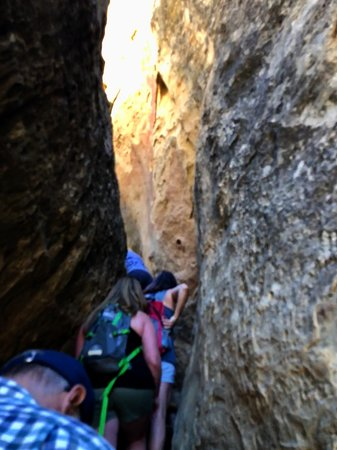 Mesa Verde National Park, CO: Small spaces you have to traverse through to get to the top.