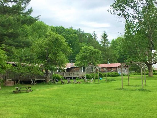 Big Indian, NY: Views from the back lawn of Cabin 3, 4 and 5