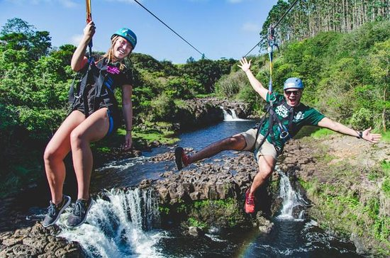 Umauma Falls Zipline and Swim 9-Line...
