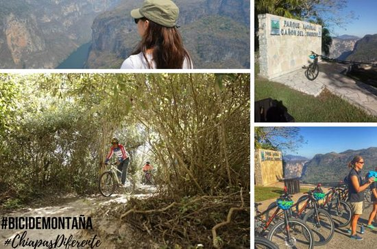 Mountainbike in Sumidero Canyon ...