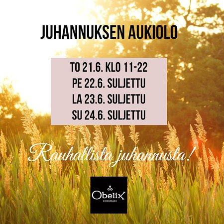Riihimaki, Finland: Juhannuksena rentoudutaan!