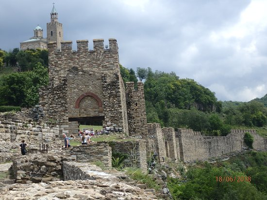 Day Trip to Bulgaria from Bucharest: Fortress at Veliko Tărnovo, visited on day trip from Bucharest to Bulgaria with Mr Tripp.