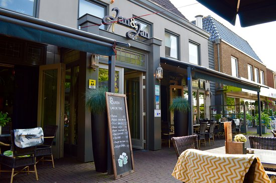 Nice outside cafe - Review of Jan & Jan, Didam, The Netherlands ...
