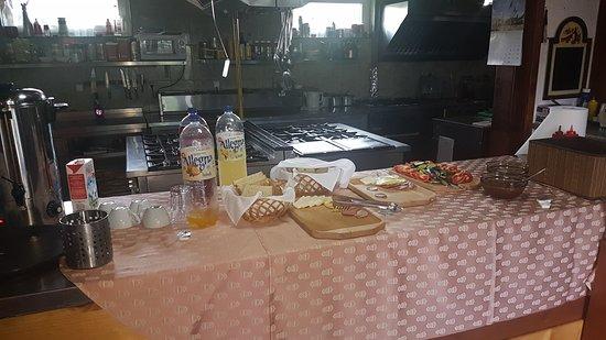 Cisnadioara, Rumänien: Breakfast