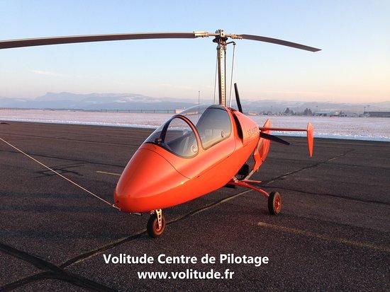 Saint-Etienne-de-Saint-Geoirs, France: Notre gyrocoptère