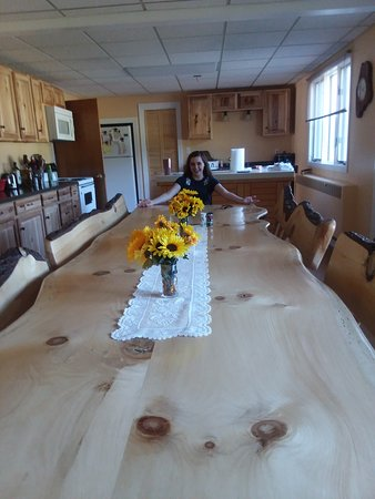 Limestone, ME: look at that dining room table and chairs!