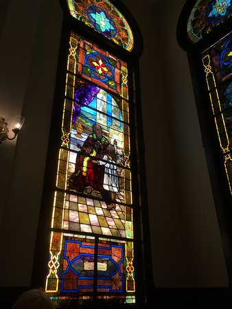 Sumter County Museum: Temple Sinai Stained Glass Window