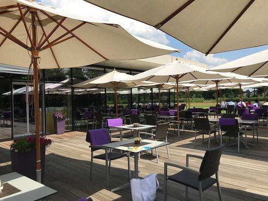 Spreewald Thermenhotel: Terrasse vom Speisesaal