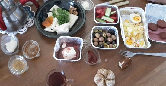 FAMEO Cafe: when you order serpme kahvalti to your home (comes with everything but the tea)