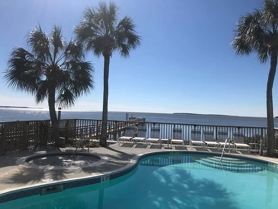 Seahorse Landing: Pool & Hot Tub overlooking the Gulf