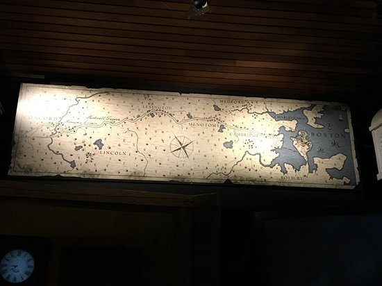 Minute Man Visitor Center: Map above presentation to highlight where each of the participants were.