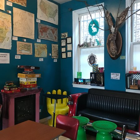 Fun, quirky coffee shop in Bridgeport. - Picture of Jackalope Coffee ...