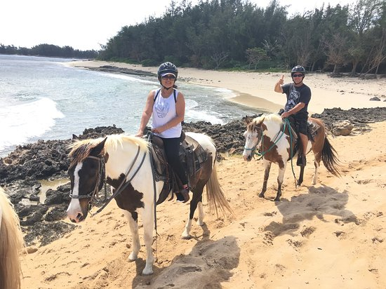 Turtle Bay Resort Horse Riding: Along the rugged North Shore