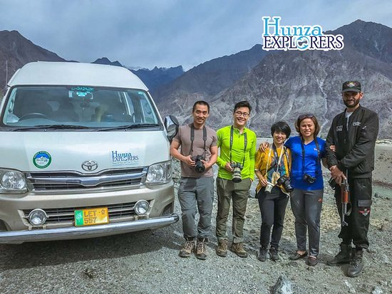 Hunza, Pakistan: Our Vietnamese Group on Karakoram Highway, Pakistan