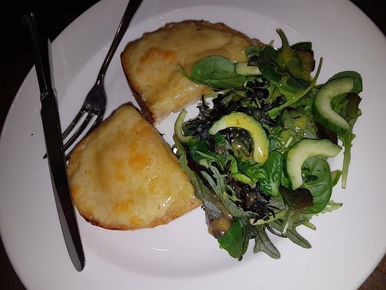West Malling, UK: one slice of welsh rarebit for £6.75