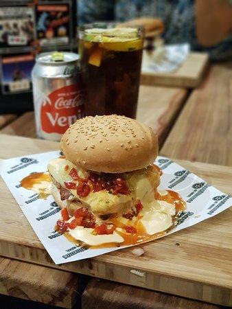 RocoMamas Mall At Carnival: Chilli cheese bomb + extra hot sauce