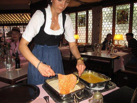 Old Swiss House: Signature Crepe Suzettes