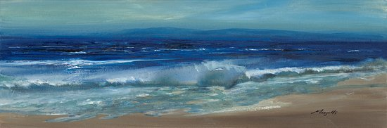 Indian Brook, Canada: Waves by Susan Marjetti (Acrylic on Canvas)
