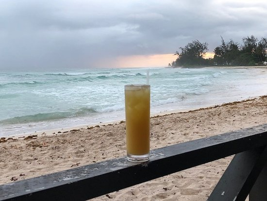Rockley, Barbados: The view from the bar.