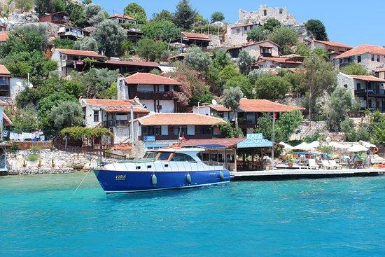 Kaleucagız, Turcja: Морская прогулка возле Kaleüçağız, Demre