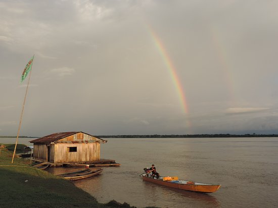 Quebrada Oran, Peru: Amazon from Oran with boat to Otorongo