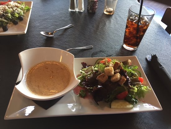 Berkeley Springs, WV: that's the crab chowder in the bowl: yes, it not only looks rich, it IS rich - and delicious!