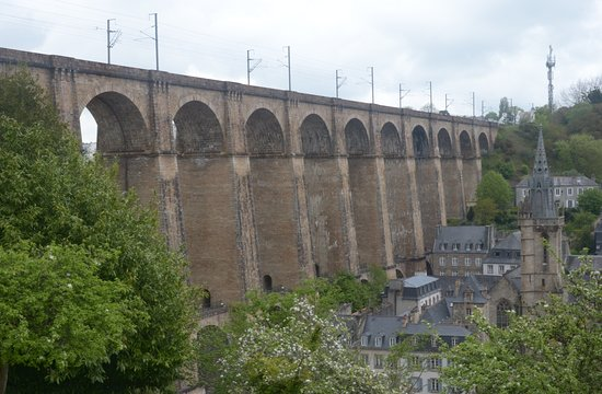 Morlaix, France: panorama dalla chiesa