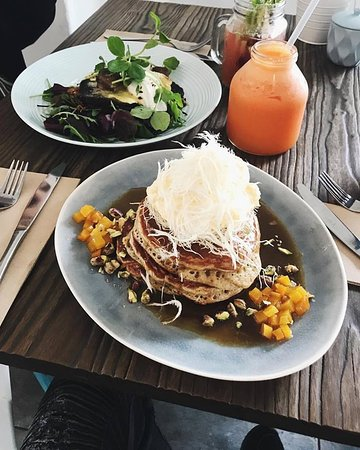 Henley Beach, Australia: Hotcakes for lunch!