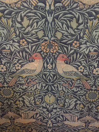 'Inspector Morse' Filming Locations Tour in Oxford with College Visits: Original William Morris fabric at Exeter College, Oxford