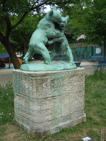 Statue Deux oursons