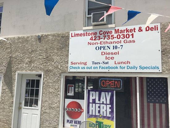 Limestone Cove Market & Deli: This little place is a neat place to stop, grab a snack or lunch (which is served 11:00-6:00)